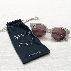 Madewell Athens Cat Eye Grey Sunglasses